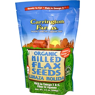 Carrington Farms, Organic Milled Flax Seeds, 14 oz (396 g)