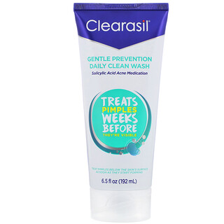 Clearasil, Gentle Prevention, Daily Clean Wash, 6.5 fl oz (192 ml)