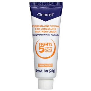 Clearasil, Stubborn Acne Control, 5-in-1 Concealing Treatment Cream, 1 oz (28 g) отзывы