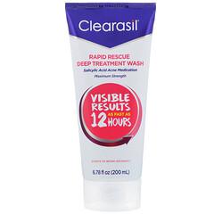 Clearasil, 快速拯救,深度舒緩洗面奶,6.78 液量盎司(200 毫升)