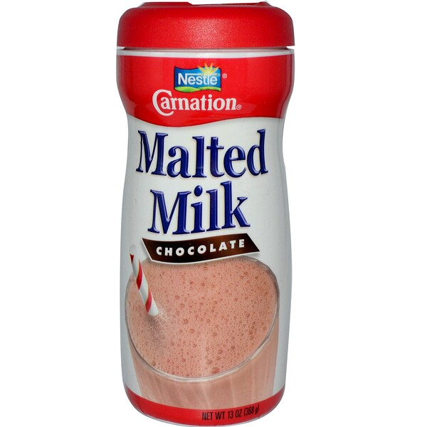 Carnation Milk, Солодовое молоко, шоколад 13 унции (368 г) (Discontinued Item)