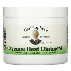 Christopher's Original Formulas, 卡宴辣椒軟膏,4 液量盎司(118 毫升)