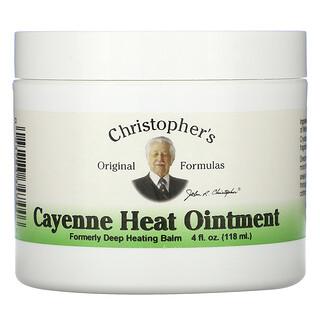 Christopher's Original Formulas, Cayenne Heat Ointment, 4 fl oz (118 ml)