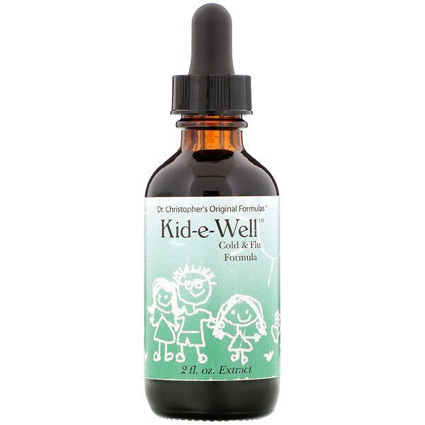 Kid-e-Well, Cold & Flu Formula Extract, 2 fl oz