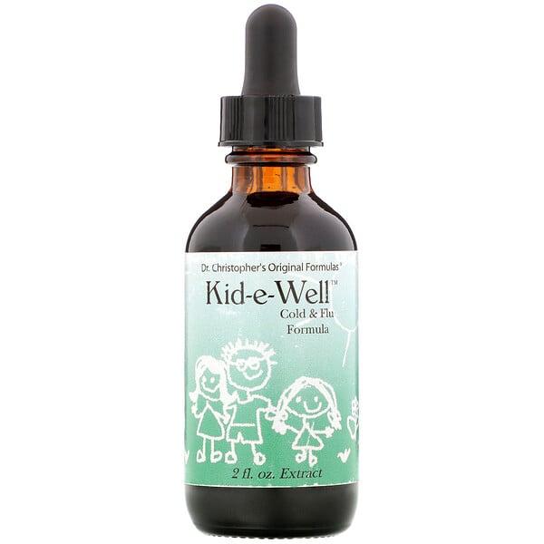 Kid-e-Well، تركيبة مستخلصة للبرد والإنفلوانزا، 2 أونصة سائلة