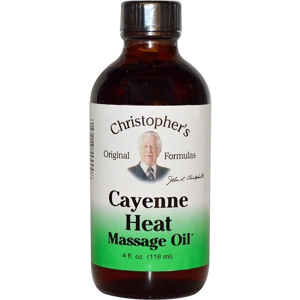 Christopher's Original Formulas, Cayenne Heat Massage Oil, 4 fl oz (118 ml) (Discontinued Item)