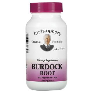 Christopher's Original Formulas, Burdock Root, 500 mg, 100 Vegetarian Caps
