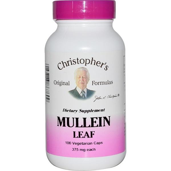 Christopher's Original Formulas, Экстракт листьев коровяка, 375 мг, 100 растительных капсул (Discontinued Item)