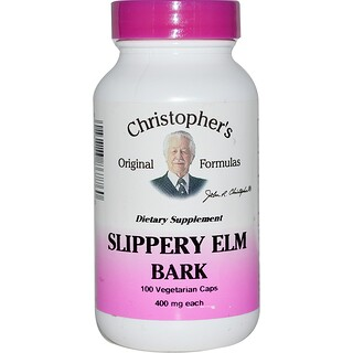 Christopher's Original Formulas, Slippery Elm Bark, 400 mg, 100 Veggie Caps