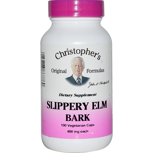 Christopher's Original Formulas, Slippery Elm Bark, 400 mg, 100 Vegetarian Caps
