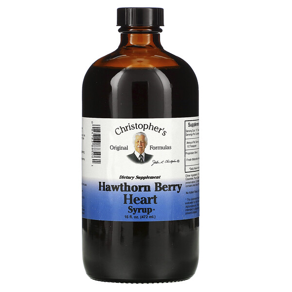 Hawthorn Berry Heart Syrup, 16 fl oz (472 ml)