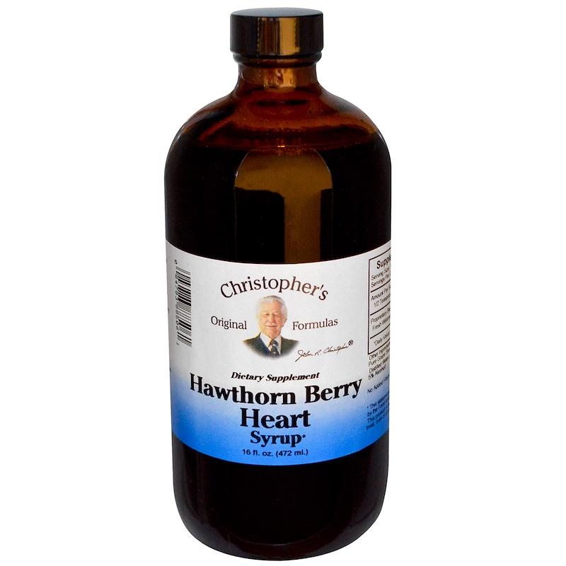 Christopher's Original Formulas, Hawthorn Berry Heart Syrup, 16 fl oz (472 ml)