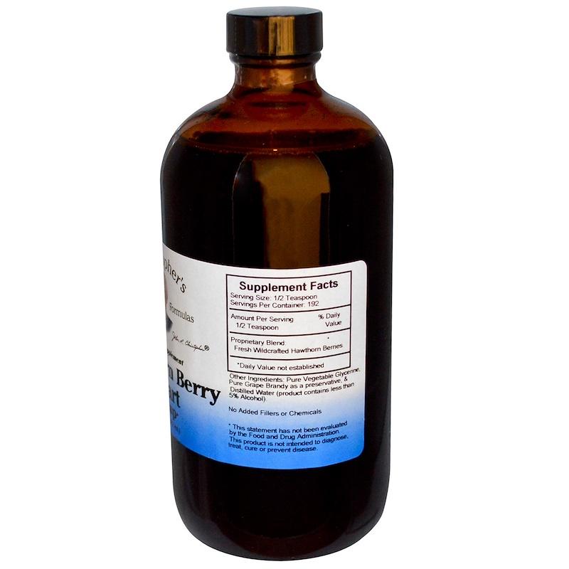 Christopher's Original Formulas, Hawthorn Berry Heart Syrup, 16 fl oz (472 ml) - photo 1