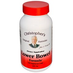Christopher's Original Formulas, Lower Bowel Formula, 450 mg, 100 Veggie Caps
