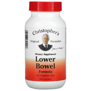 Christopher's Original Formulas, Lower Bowel Formula, 450 mg, 100 Vegetarian Caps