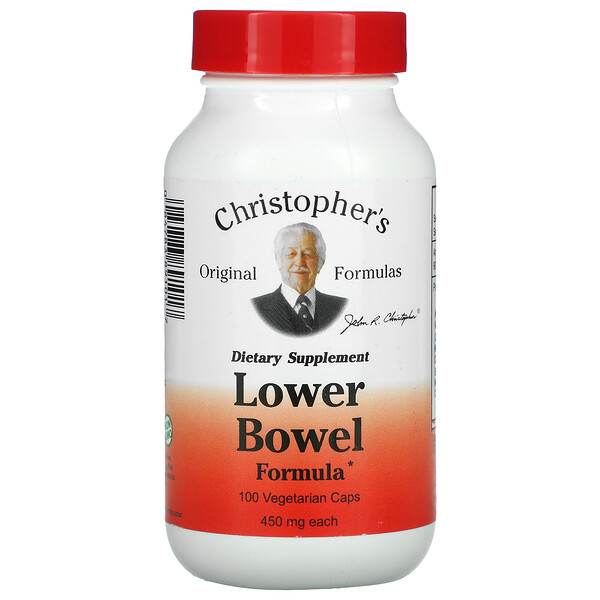 Lower Bowel Formula, 450 mg, 100 Vegetarian Caps