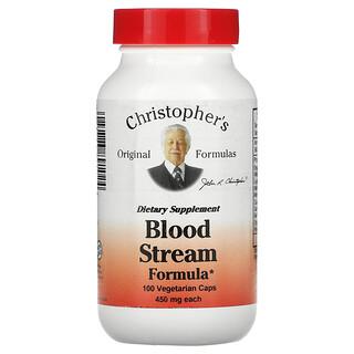 Christopher's Original Formulas, Blood Stream Formula, 450 mg, 100 Vegetarian Caps