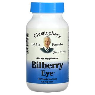 Christopher's Original Formulas, Bilberry Eye, 425 mg, 100 Vegetarian Caps