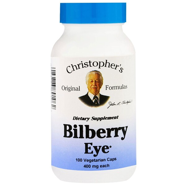 Christopher's Original Formulas, Bilberry Eye, 400 mg, 100 Vegetarian Caps