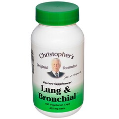 Christopher's Original Formulas, Lung and Bronchial, 425 mg, 100 Veggie Caps