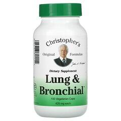 Christopher's Original Formulas, 肺和支氣管,425 毫克,100 粒素食膠囊