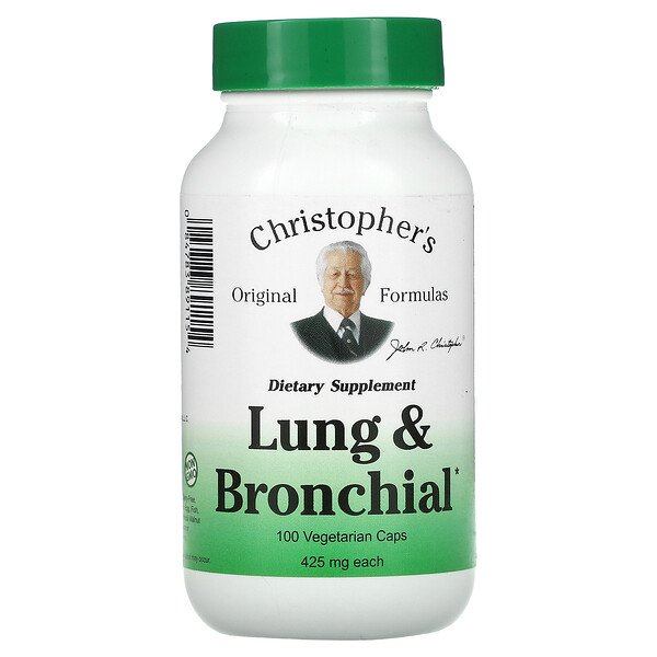 Lung and Bronchial, 425 mg, 100 Vegetarian  Caps