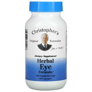 Christopher's Original Formulas, Herbal Eye Formula, 475 mg, 100 Vegetarian Caps