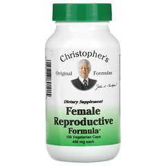 Christopher's Original Formulas, 女性生殖配方,450 毫克,100 粒素食膠囊