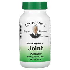Christopher's Original Formulas, 關節配方,460 毫克,100 粒素食膠囊