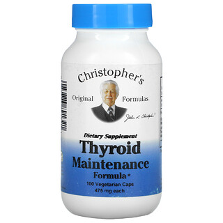 Christopher's Original Formulas, Thyroid Maintenance Formula, 475 mg, 100 Vegetarian Caps