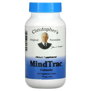 Christopher's Original Formulas, MindTrac Formula, 440 mg, 100 Vegetarian Caps