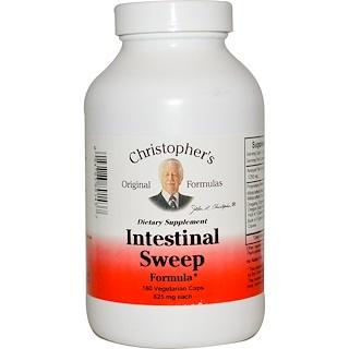 Christopher's Original Formulas, Fórmula de limpeza intestinal, 625 mg cada, 180 cápsulas vegetais