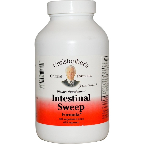 Christopher's Original Formulas, Intestinal Sweep Formula, 625 mg, 180 Vegetarian Caps
