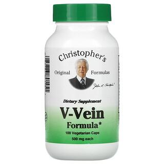 Christopher's Original Formulas, V-Vein Formula, 500 mg, 100 Vegetarian Caps