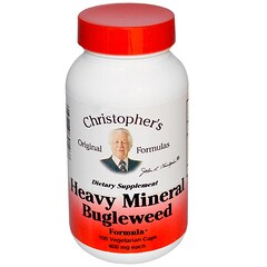 Christopher's Original Formulas, Heavy Mineral Bugleweed Formula, 400 mg, 100 Veggie Caps