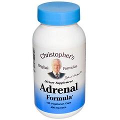 Christopher's Original Formulas, Adrenal Formel, 400 mg, 100 Veggie-Kapseln