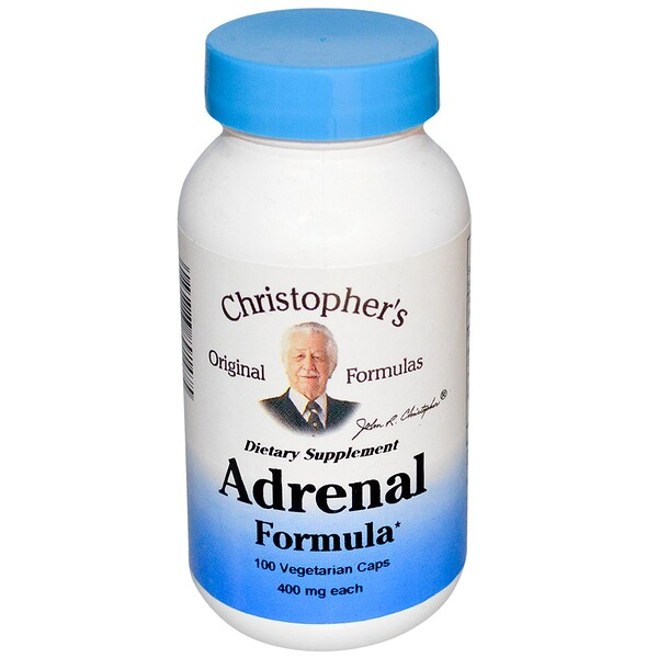Christopher's Original Formulas, Adrenal Formula, 400 mg, 100 Veggie Caps