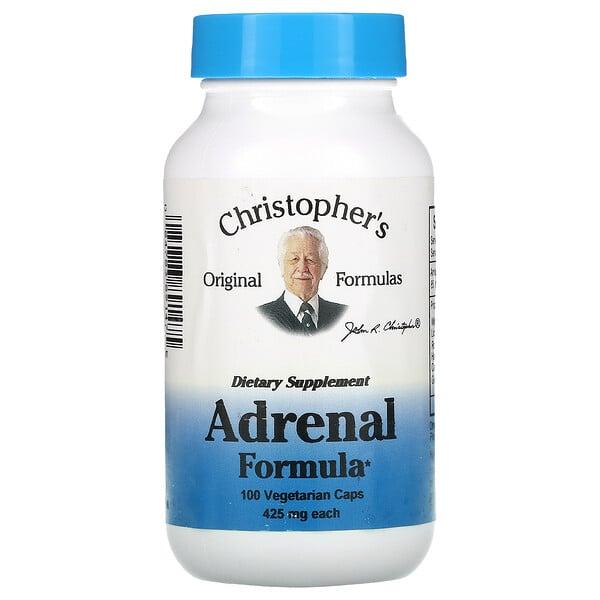Adrenal Formula, 425 mg, 100 Vegetarian Caps