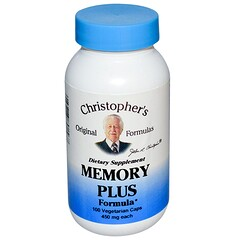 Christopher's Original Formulas, Memory Plus Formula, 450 mg, 100 Veggie Caps