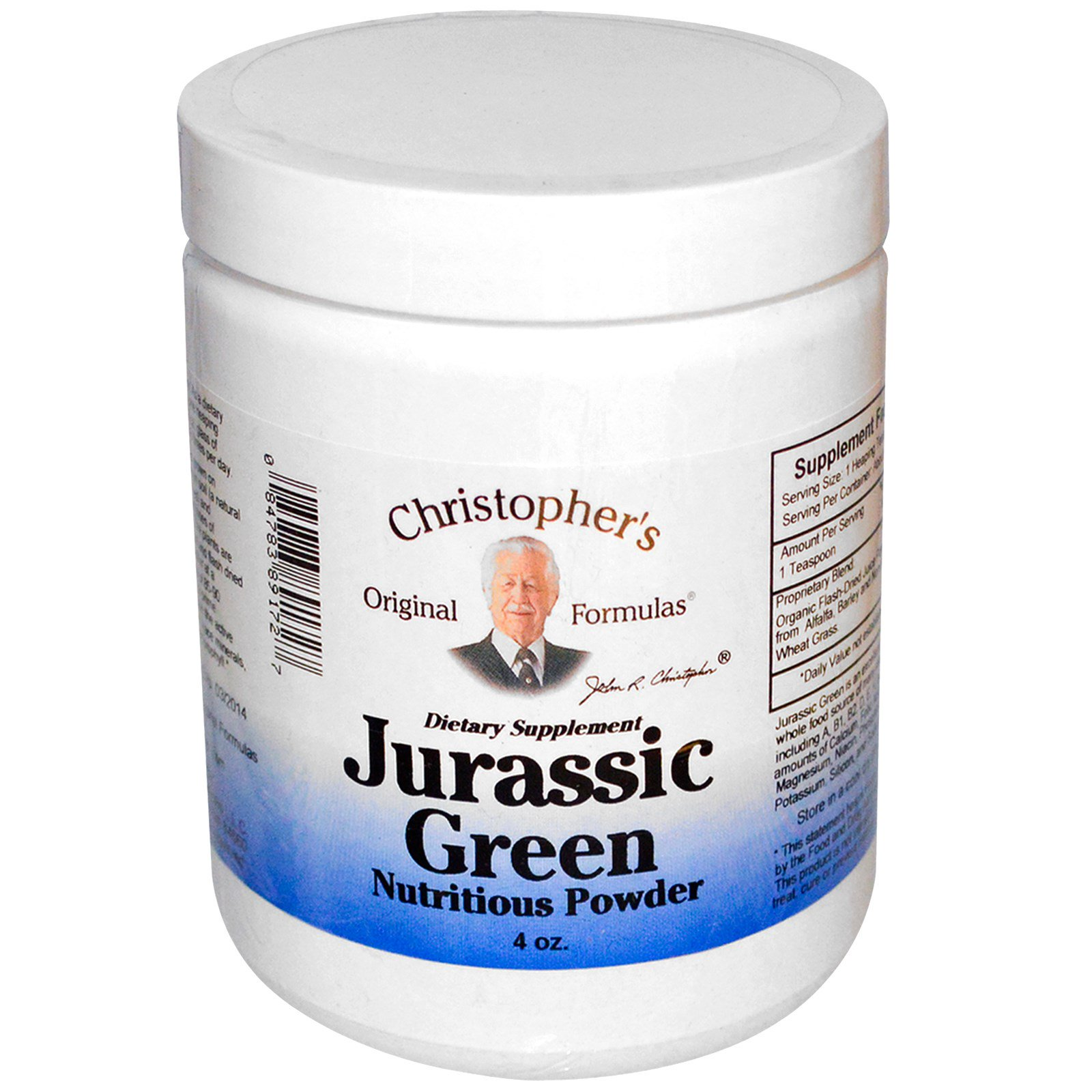 Christopher's Original Formulas, Jurassic Green, Nutritious Powder, 4 oz  (Discontinued Item)
