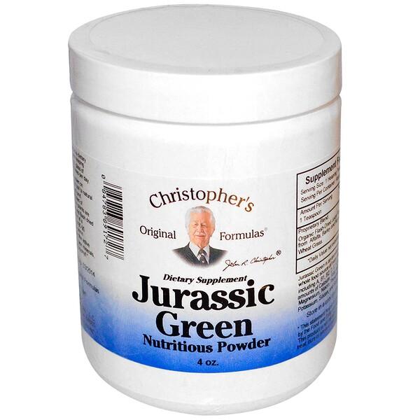 Christopher's Original Formulas, Jurassic Green, Nutritious Powder, 4 oz (Discontinued Item)