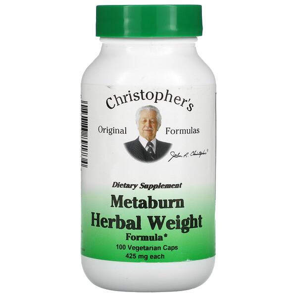 Metaburn Herbal Weight Formula, 450 mg, 100 Vegetarian Caps