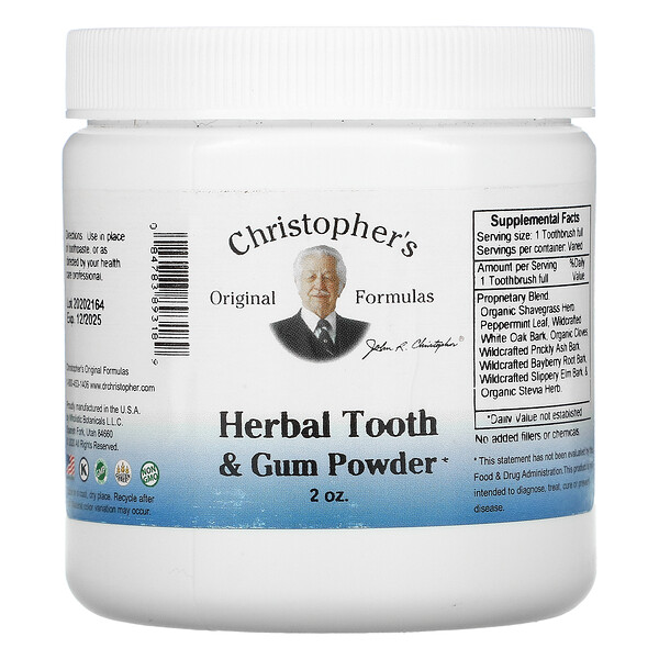 Herbal Tooth & Gum Powder, 2 oz