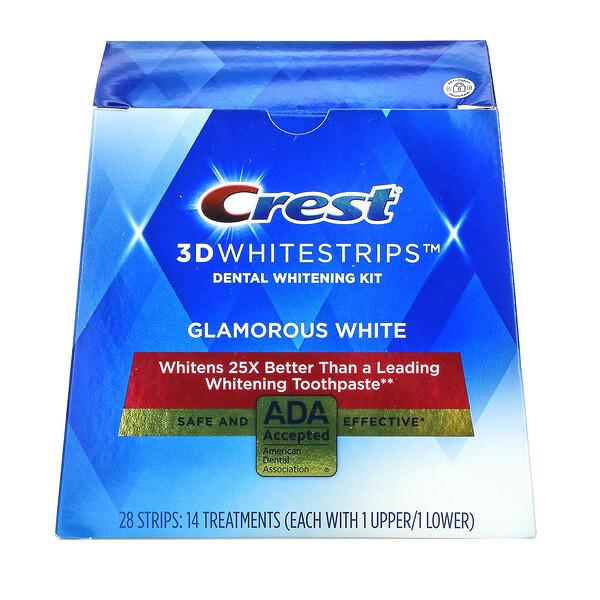 3D Whitestrips, Dental Whitening Kit, Glamorous White, 28 Strips
