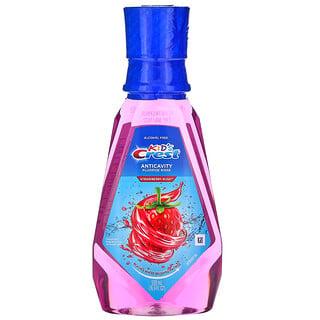 Crest, Kids, Anticavity Fluoride Rinse, Alcohol Free, Strawberry Rush, 16.9 fl oz (500 ml)