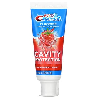 Crest, Kids, Fluoride Anticavity Toothpaste, For Ages 2+, Strawberry Rush, 4.2 oz (119 g)