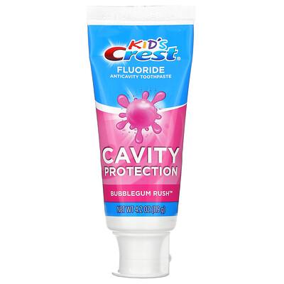 Crest Kids, Fluoride Anticavity Toothpaste, Bubblegum Rush, 4.2 oz (119 g)