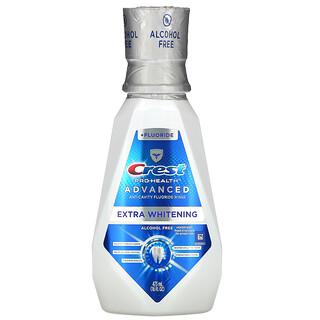 Crest, Pro Health Advanced, Extra Whitening Mouthwash + Fluoride, Alcohol Free, 16 fl oz (473 ml)