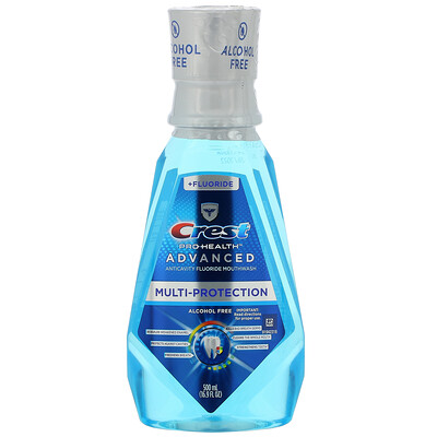 Купить Crest Pro Health Advanced, Multi-Protection Mouthwash, +Fluoride, Alcohol Free, 16.9 fl oz (500 ml)