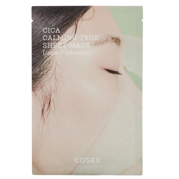 Cosrx, Pure Fit, Cica Calming True, успокаивающая тканевая маска, 1шт., 21мл (0,71жидк.унции)